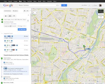 Google Transit München