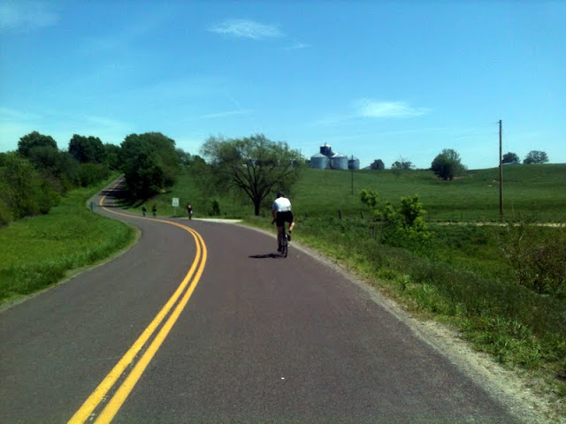 Climbing a hill on a cross bike
