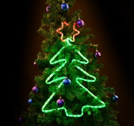 LED Festival Window Light Christmas Tree Xmas Holiday Lights with Star Top Home Decor