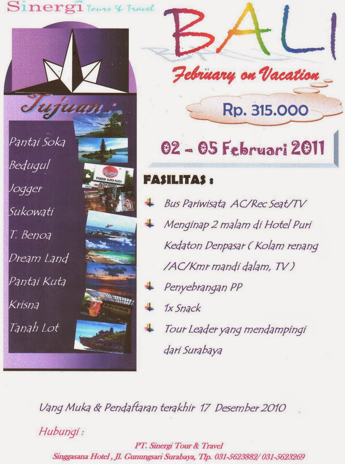 tour and travel bali murah