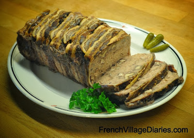 French Village Diaries recipes book review French Brasserie Cookbook Daniel Galmiche Terrine de Porc Cognac Walnuts Food France