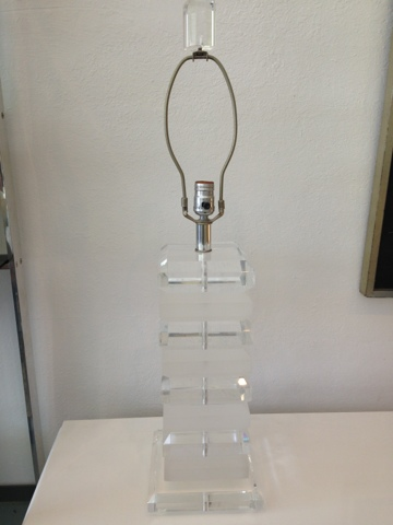 Mid Century Modern Miami Vintage Furniture Store Stacked Lucite Lamp