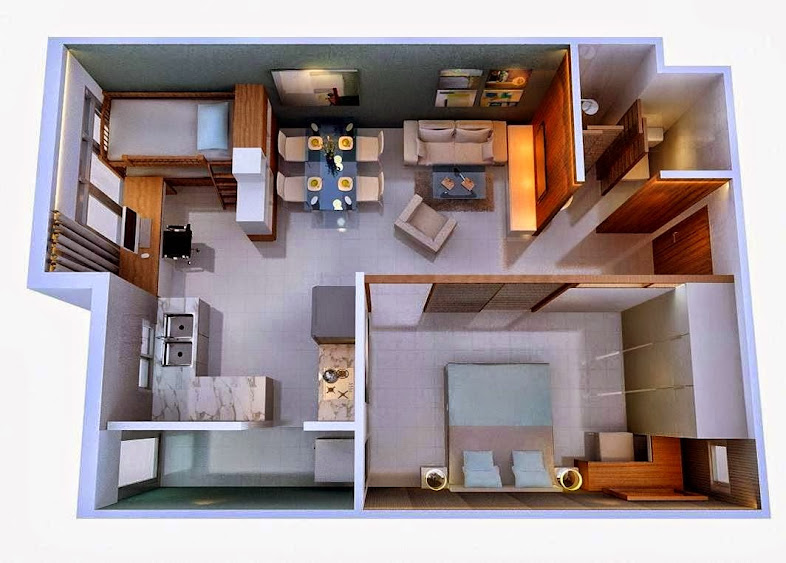 căn 1 phòng ngủ chung cư hh2b linh đàm