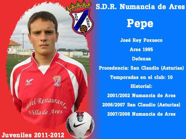 ADR Numancia de Ares. Xuvenís 2011-2012. PEPE.