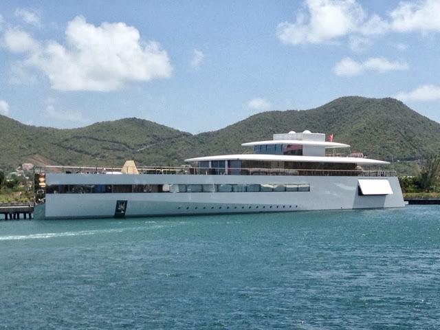 The Late Apple Founder Steve Jobs Super Yacht Venus Docked In SintMaarten