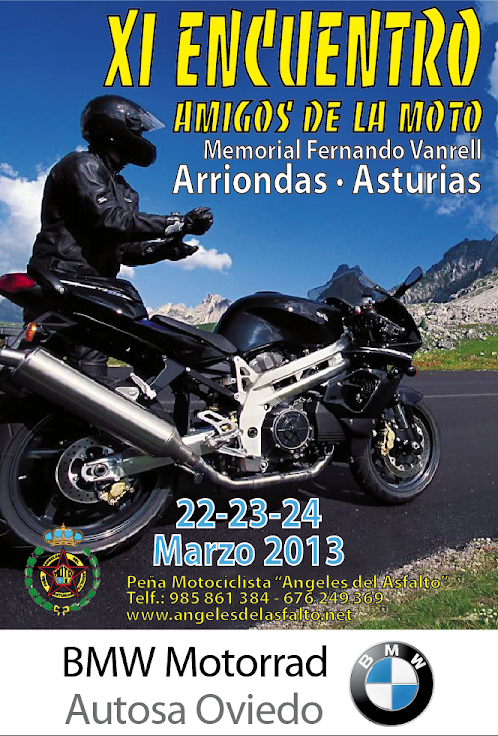Cartel XI Encuentro Amigos de la moto 2013