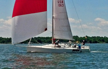J/111 cruising, day sailing on Chesapeake