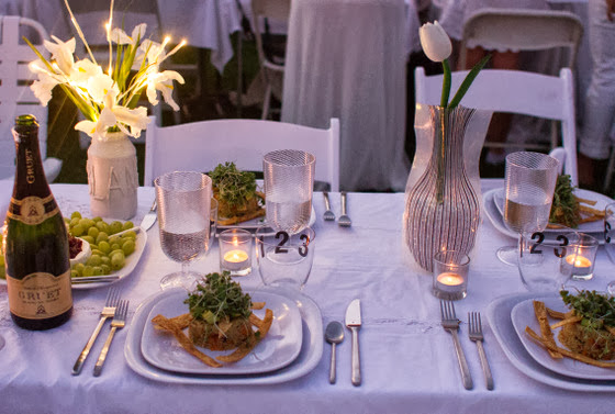 photo of a place setting with an entree