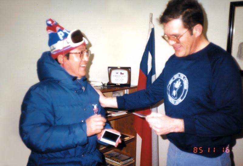 칠레기지를 방문한 윤석순 단장