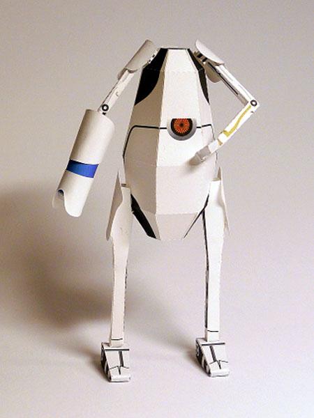 Portal 2 Pbody Papercraft