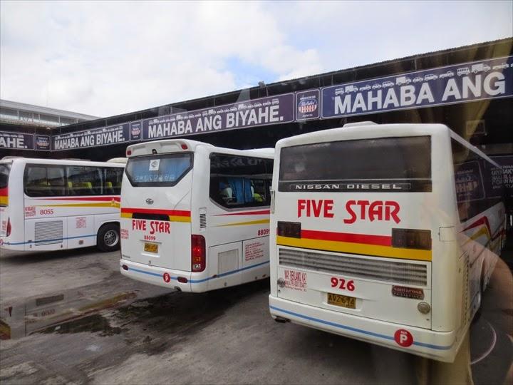 ダウ・マバラカット・バスターミナルの南行きバス乗り場