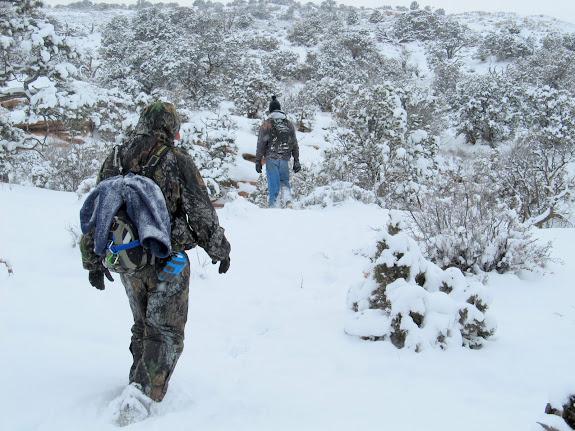 Hiking through deeper snow