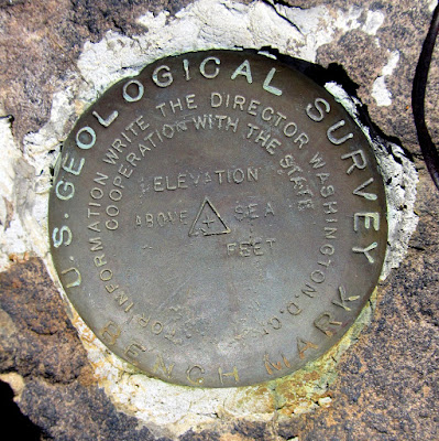 Survey marker atop Nate's Peak