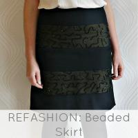 beaded skirt refashion