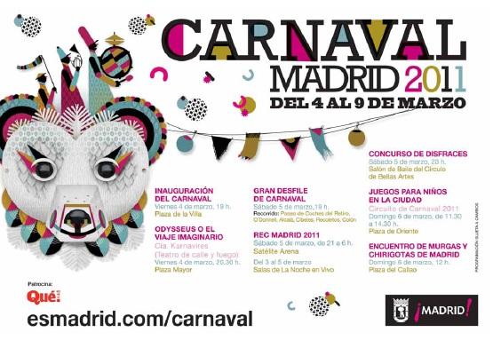 Programa de los carnavales de Madrid en 2011