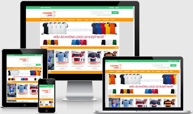 Template blogspot đơn giản bán hàng dụng cụ thể thao