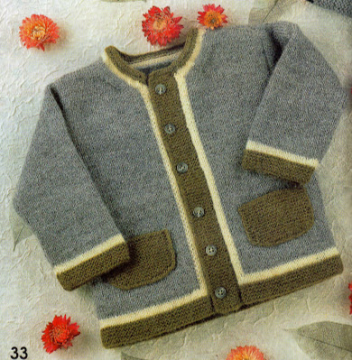Los Tres Botones: Patrón chaqueta de punto de niño