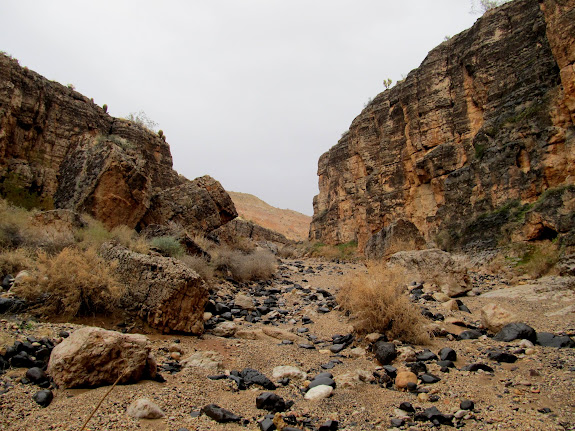 Upper end of this part of the canyon