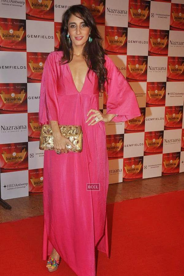 Farah Khan Ali during the 10th Annual Gemfields and Nazraana Retail Jeweller India Awards, 2014, in Mumbai, on July 19, 2014. (Pic: Viral Bhayani)