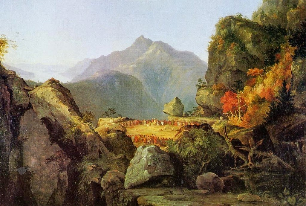 Landscape Scene from 'The Last of the Mohicans' by Thomas Cole - 1827.