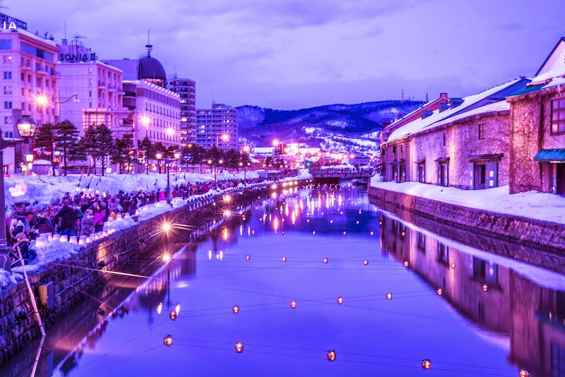 小樽運河 夕景 写真2