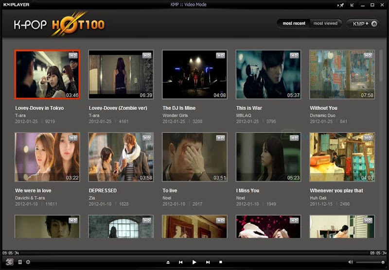 Screenshot of KMPlayer v.3.6.0.87 Multimedia Player PC Software Free Download at Alldownloads4u.Com
