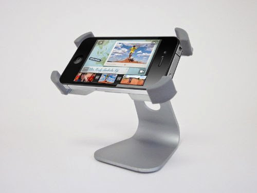 GSI Super Quality Hands-Free Desktop Stand for Apple iPhone 4/1G/3G/S - Multi-Purpose Aluminum Holder, 360° Rotating Dock/Cradle