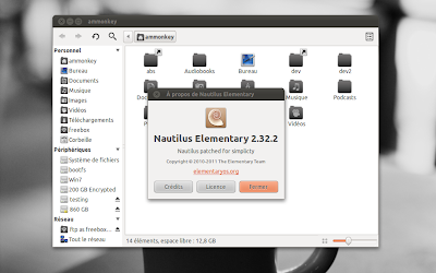 Nautilus Elementary 2.32.2 updated for Ubuntu Natty, Maverick