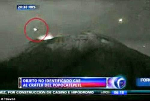 Ufo Crashes Into Volcano