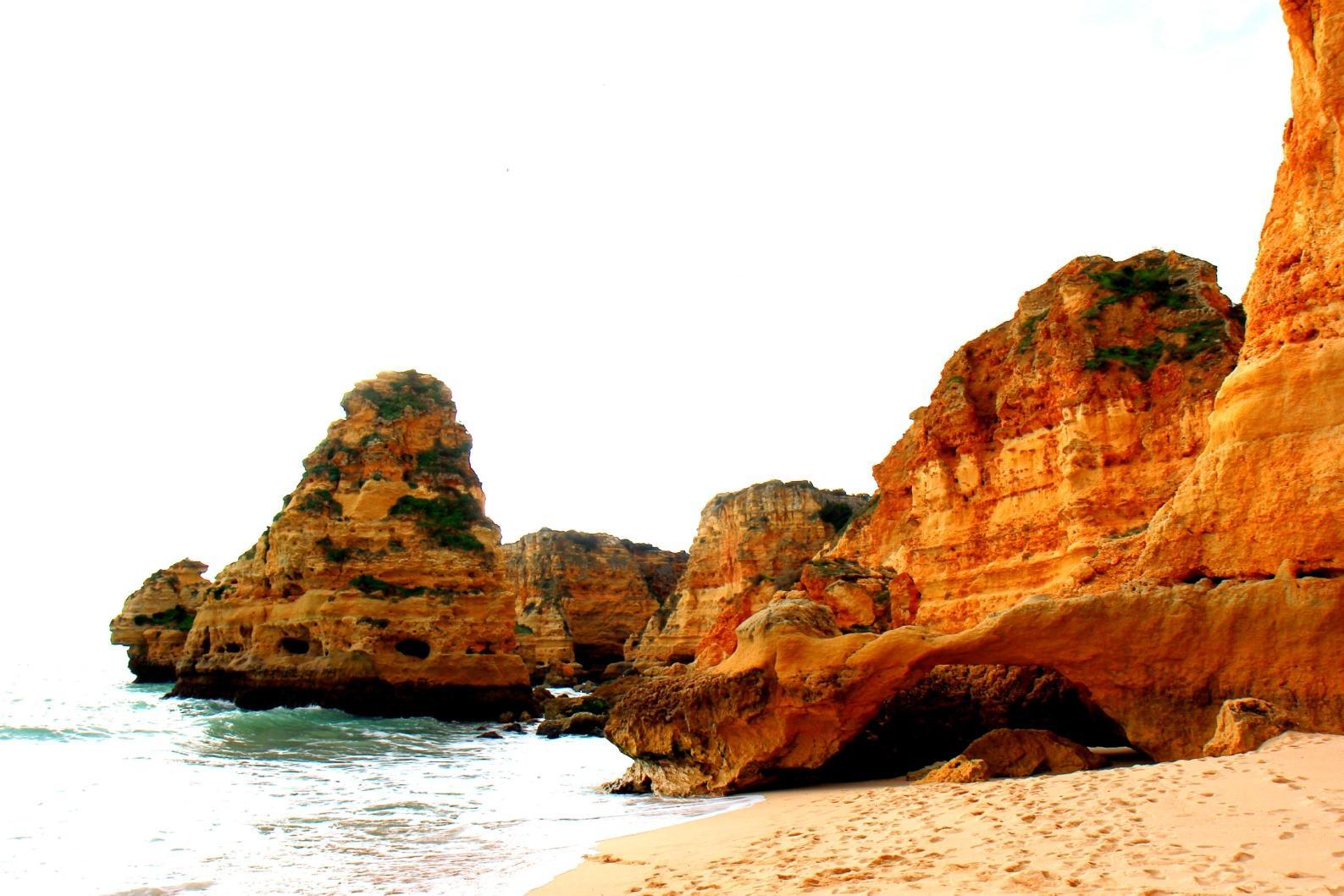 Marinha beach portugalsko