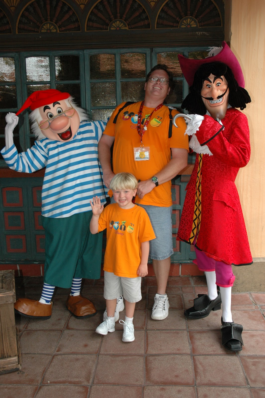 Williams family meeting characters from peter pan guests could meet captain hook and mr smeet and then just down the path meet peter pan and wendy but you cant do that now that peter pan has moved to kristyandbryce Image collections