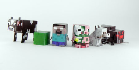 Minecraft Minis Papercraft Batch 2