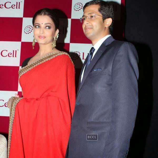 Aishwarya Rai Bachchan at the launch of Lifecells Bank held in Chennai. (Pic: Viral Bhayani)