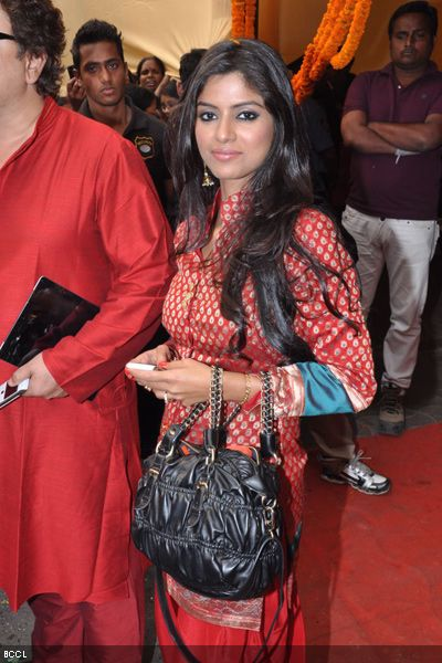 Actress Sayantani Ghosh during the wedding ceremony of Koel Mallick and Nispal Singh Rane, held at Rashbehari Gurdwara in Kolkata.