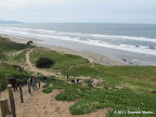 An aerial view of Fort Funston area