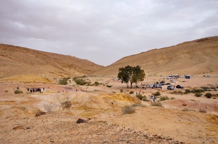 Панорама цветных песков в Махтеш Гадоль. Экскурсия гида Светланы Фиалковой.
