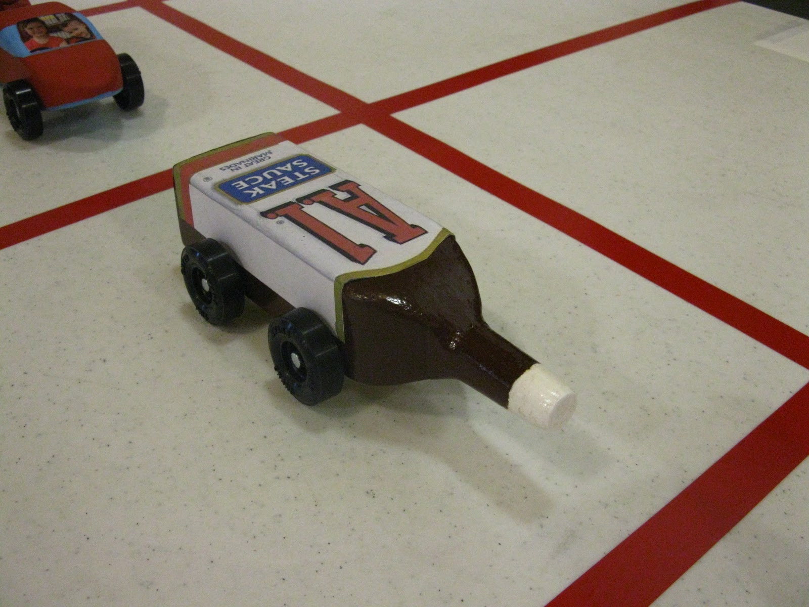 Cool pinewood derby cars steak sauce car