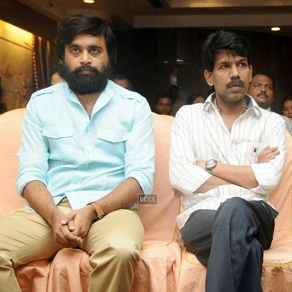 M Susikumar and Bala during the movie pooja of Thaarai Thappattai, held in Chennai.