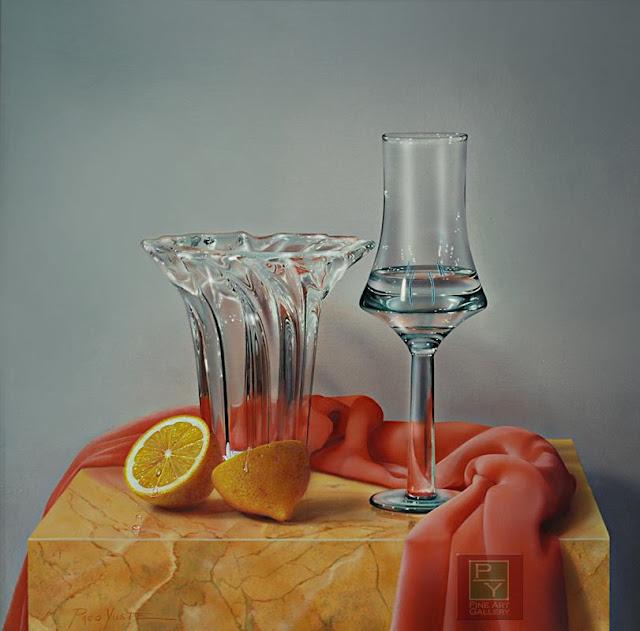 Transparencias, luz y color IV, pintura de Paco Yuste