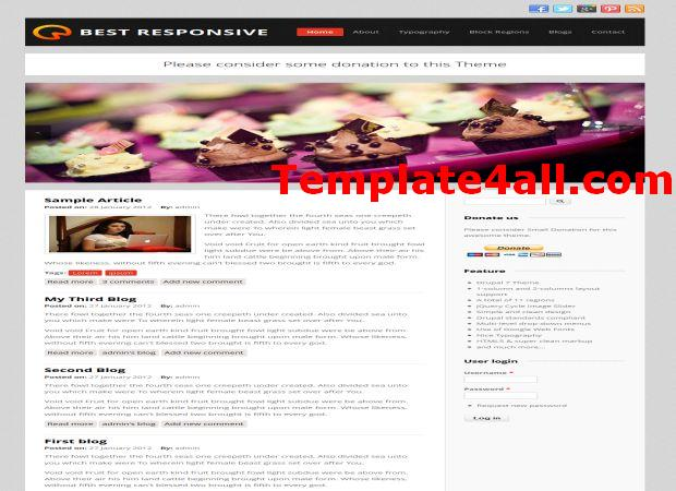 Responsive Business Drupal 7 Theme Template