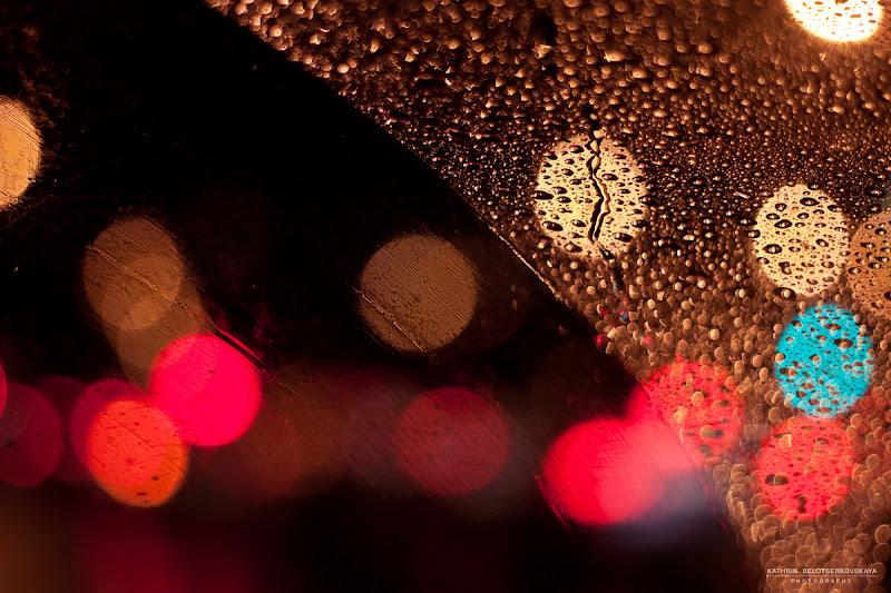 Ночная Москва. Дождь. Фотограф Катрин Белоцерковская. Kateblc.ru