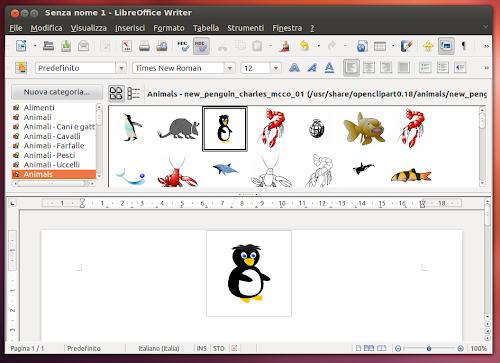 aggiungere e catalogare oltre 20.000 Clipart su LibreOffice