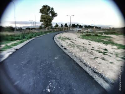 Inicio Carril bici junto Autovía Ma13