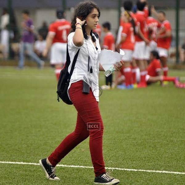 Aamir Khan's daughter Ira Khan during a charity soccer match organised at Cooperage ground, on July 20, 2014.(Pic: Viral Bhayani)