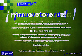 enbicipormadrid ganador de uno de los premios 'Muévete Verde 2013'