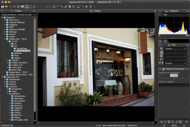 Capture NX-D, el software fotográfico de Nikon se actualiza