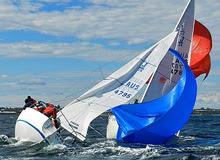 J/24 sailing slowly in Victoria States Australia