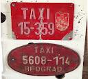 foto : SFRJ, Srbija, Beograd, dva formata dodatnih pločice taksista