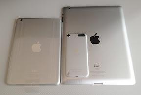 iPad mini、iPad3、iPod touch第5世代
