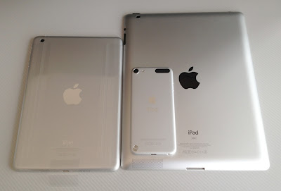 iPad mini、iPad3、iPod touch第5世代の背面
